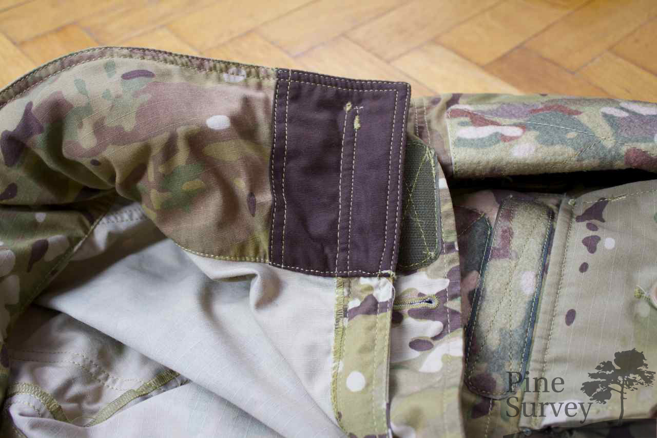 Chin protection inside the parka