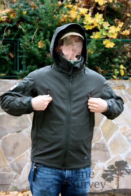 The outer layer is a 4-way elastic Sharkskin softshell material made out of  100% polyester. The midlayer is a breathable film membrane and the inner  layer a ... 00a06ac526