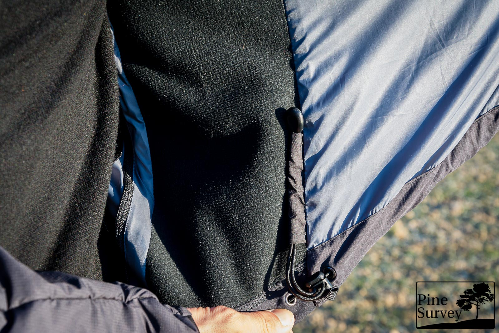 Elastic side panel (Windstopper Softshell)
