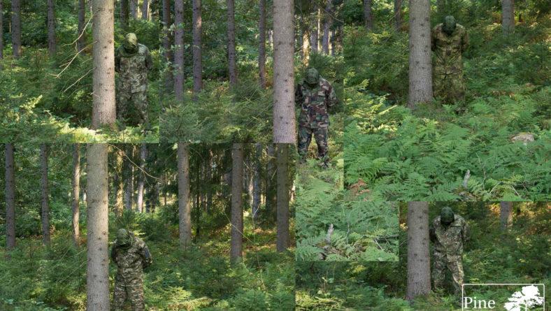 Camouflage comparison: ConCamo, M81 Woodland, Kryptek, PenCott, Slocam